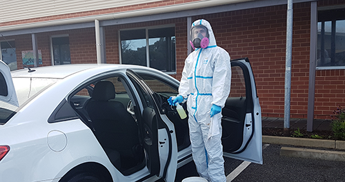 Mould Doctor Bio Clean - cleaning a suspected contaminated vehicle